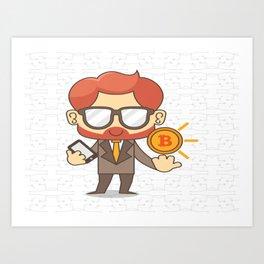 bitcoin/bitcoin shirt/coin/bitcoin clothing/bitcoin t-shirt/bit/bitcoin shirts Art Print