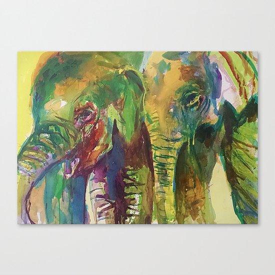 Elephant Pals Canvas Print