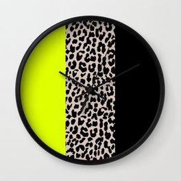 Leopard National Flag V Wall Clock