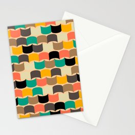 Retro abstract pattern Stationery Cards