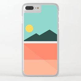 Geometric Landscape 16 Clear iPhone Case