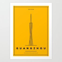 Minimal Guangzhou City Poster Art Print