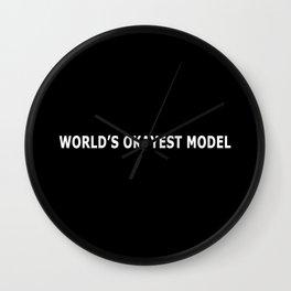 WORLD'S OKAYEST MODEL Wall Clock