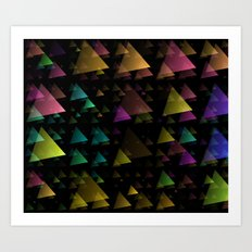 Drifting Triangles Art Print