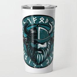 Viking Odin with Hugin and Munin Travel Mug