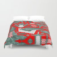 crocodile Duvet Covers featuring crocodile by BUBUBABA