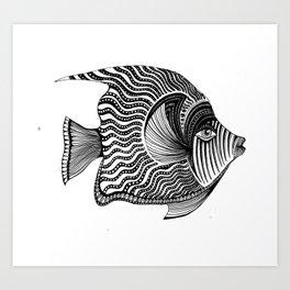 Emperor Angelfish Art Print
