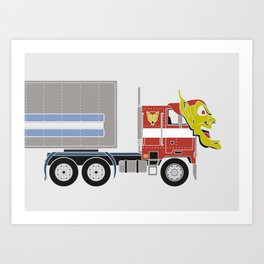 Robot's Wrong Disguise Art Print