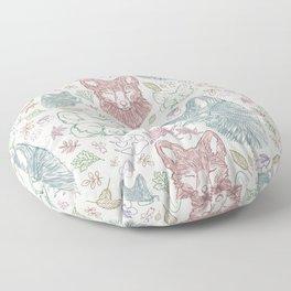 Fox pattern Floor Pillow
