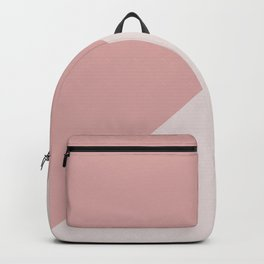 Dusty Rose Blush Pink Geometric Color Blocks Backpack