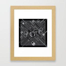 Locks & Chains Scarf Print Framed Art Print