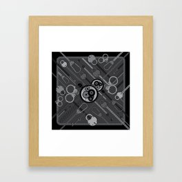 Locks & Chains Scarf Print Framed Art Print