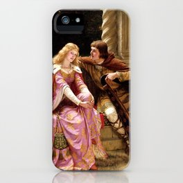 The End Of The Song - Edmund Leighton iPhone Case