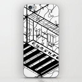 Abstract Sci-Fi Circuit Design - Minimalist Art iPhone Skin