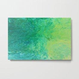 Green Colorscape Metal Print