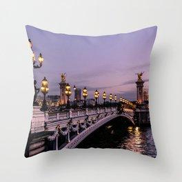 Nights in Paris Throw Pillow