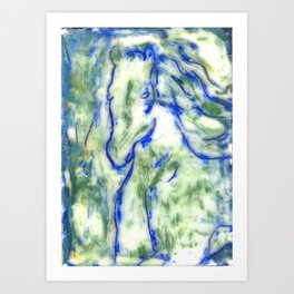 Encaustic Horse Art Print