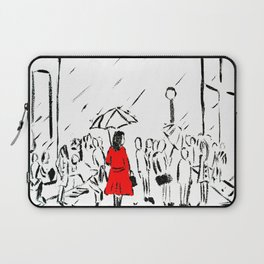 The Girl In The Red Rain Coat (Part 1)  Fine Art Acrylic Painting Laptop Sleeve