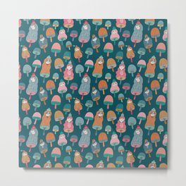 Pattern Project / Mushroom Girls Metal Print