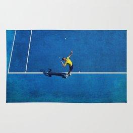 Novak Djokovic Tennis Serving Rug