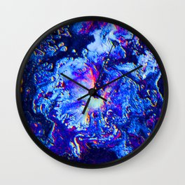Blue, Pink, & Purple Swirl Wall Clock
