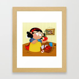 Snow White (apple) Framed Art Print