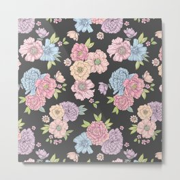 Pastel flower garden Metal Print