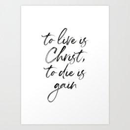 Christ Quote Art Print