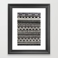 black//white Framed Art Print