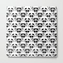Panda - Nerd - Panda Metal Print