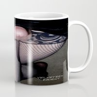 bdsm Mugs featuring funny painting cock penis fucking fucked sex fuck dick transgender cross dress fetish BDSM kinky ass by Velveteen Rodent