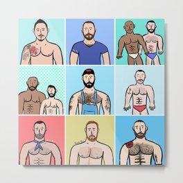 Beard Boy: Boys, Boys, Boys Metal Print
