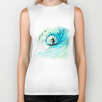 surfer Biker Tanks featuring Surfer by Bruce Stanfield