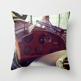 Vitnage plane cockput Throw Pillow