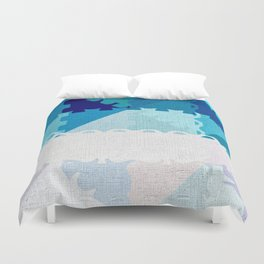 Decorative Pastel Puzzel Abstract Duvet Cover