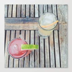 Summer Drinks Canvas Print