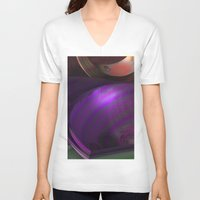 wallpaper V-neck T-shirts featuring Wallpaper by Fine2art