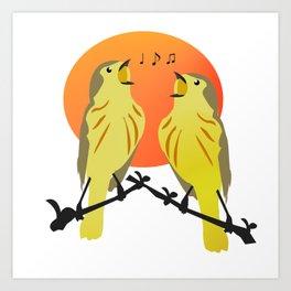 bird singing Art Print