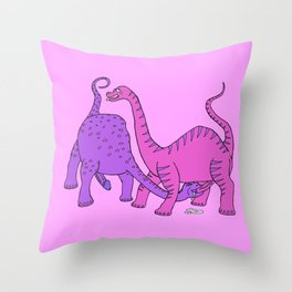 Before Time Began I (pink) Throw Pillow
