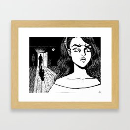 CLEAVED TO MEAT YOU Framed Art Print