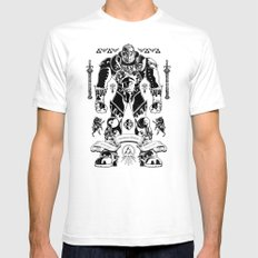 Legend of Zelda Ganondorf the Wicked LARGE Mens Fitted Tee White