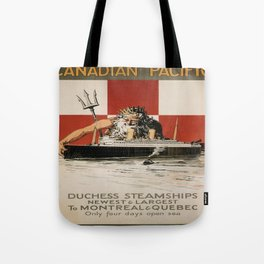 Vintage poster - Canadian Pacific Cruises Tote Bag