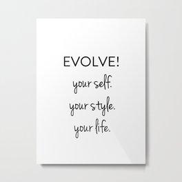 Evolve II Metal Print