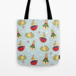 Tea Time in the Snow Tote Bag