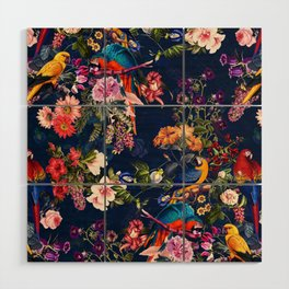 FLORAL AND BIRDS XII Wood Wall Art