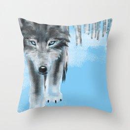 2019 Wolf Calendar Throw Pillow