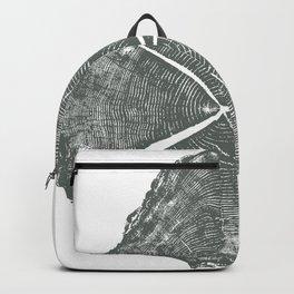 Locust Tree ring image, woodcut print Backpack