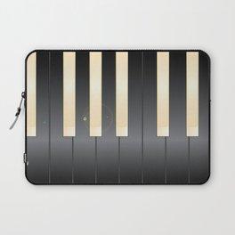 White And Black Piano Keys Laptop Sleeve
