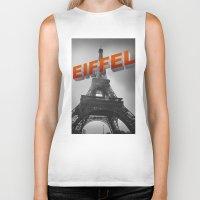eiffel Biker Tanks featuring Eiffel by Vin Zzep
