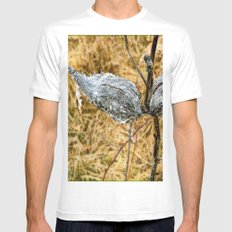 Milk Weed Pods Mens Fitted Tee White MEDIUM